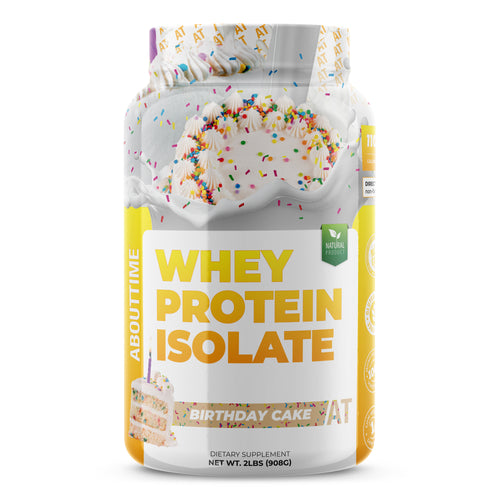 Whey Protein Isolate 2lb Jar - Birthday Cake