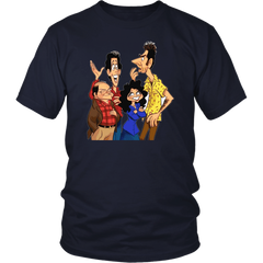 Close Talkers  Animated Design - Seinfeld Fan T-Shirt All Sizes Including Plus Size