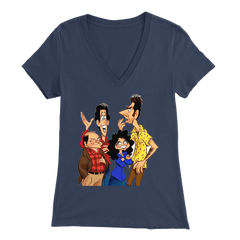 Close Talker Animated Ladies V-Neck Shirt - Seinfeld Fans Tribute Shirt