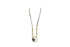Silver Tone Circle Charm Long Bead Necklace