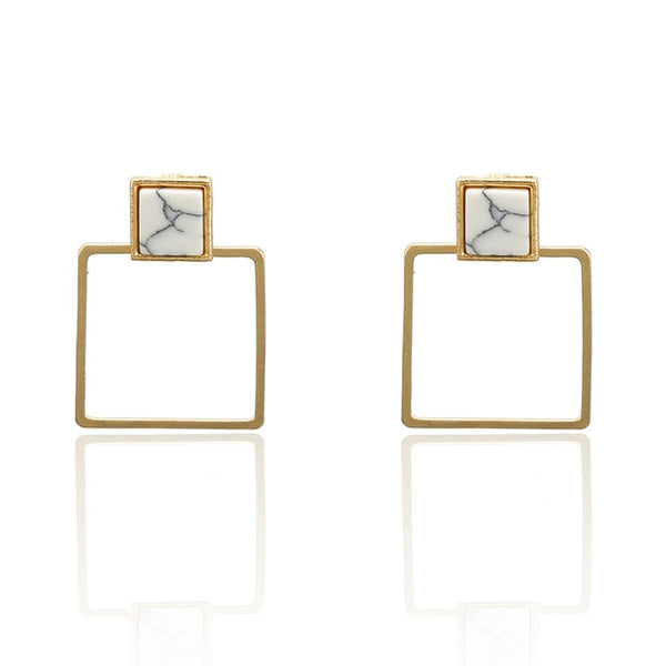 New Fashion White Stone High  Quality Stud Earrings