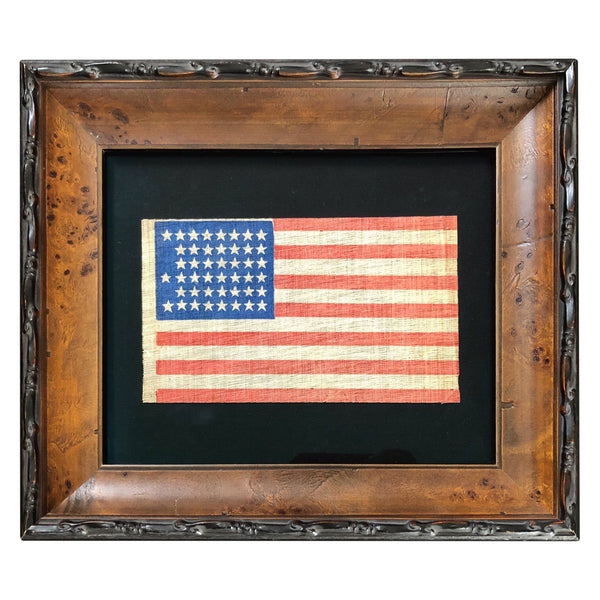 Antique Vintage 45 Star Flag with Notched Star Configuration - Utah Statehood