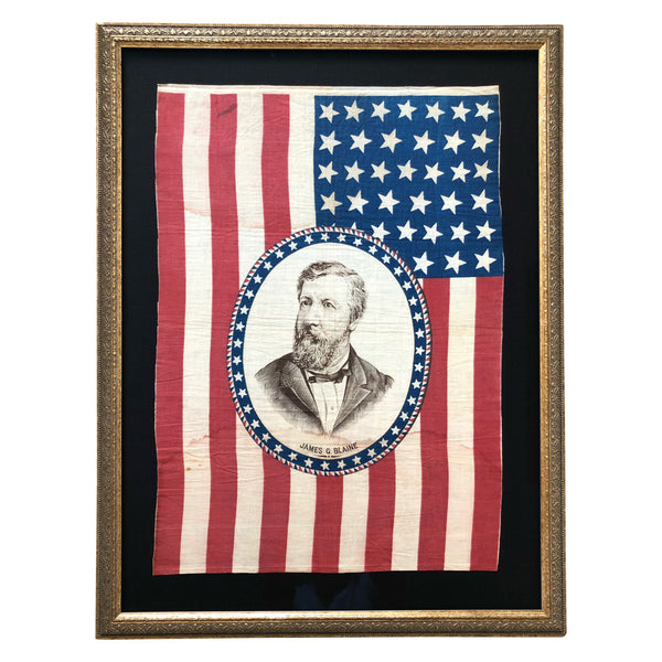 1884 James Blaine Presidential Campaign 39 Star Flag