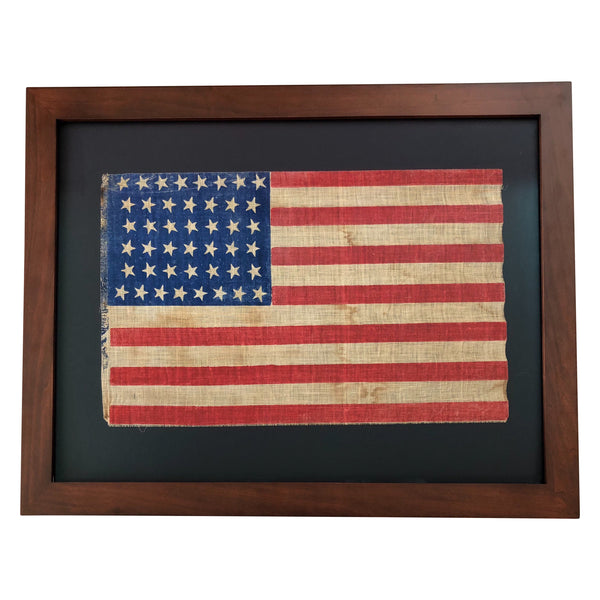 44 Star Flag - Tilting Stars Hourglass Formation, Vintage American Flag