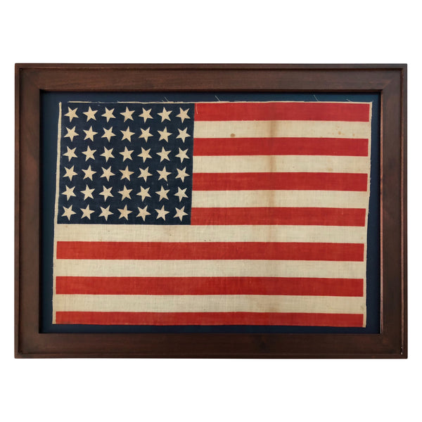 42 Star Flag - Scattered Star Position, Vintage American Flag