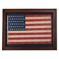 48 Star Flag - Staggered Rows on an Antique American Flag
