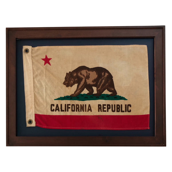Vintage California Republic Bear Flag, Small Boat Size Flag