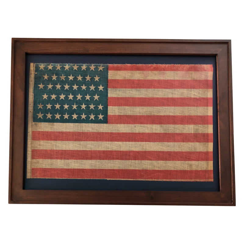 46 Star Flag, Vintage American Framed Flag