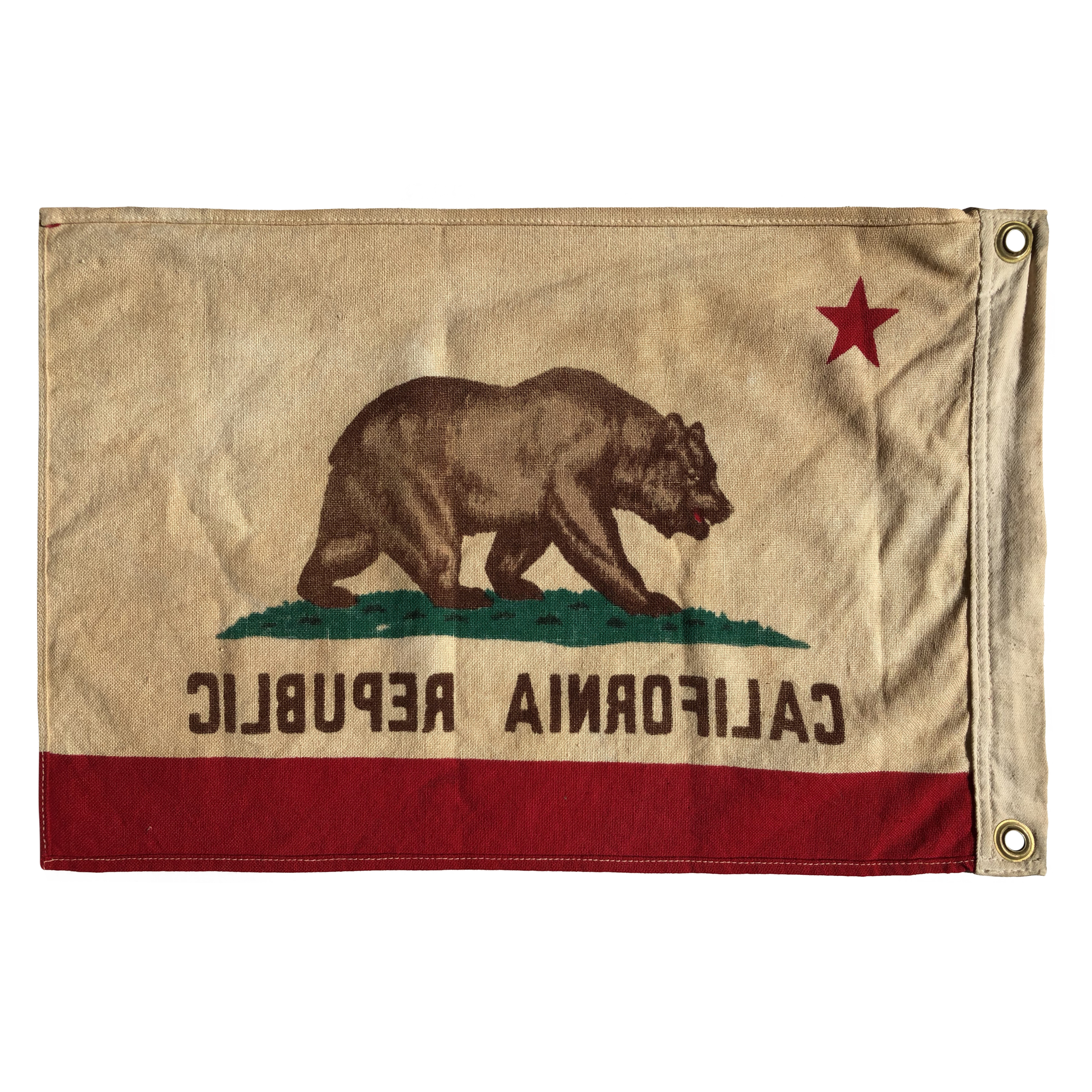 Vintage California Republic Bear Flag, Small Boat Size Flag | eBay