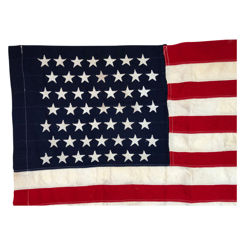 Vintage 49 Star Flag with Zip Zag Star Stitching