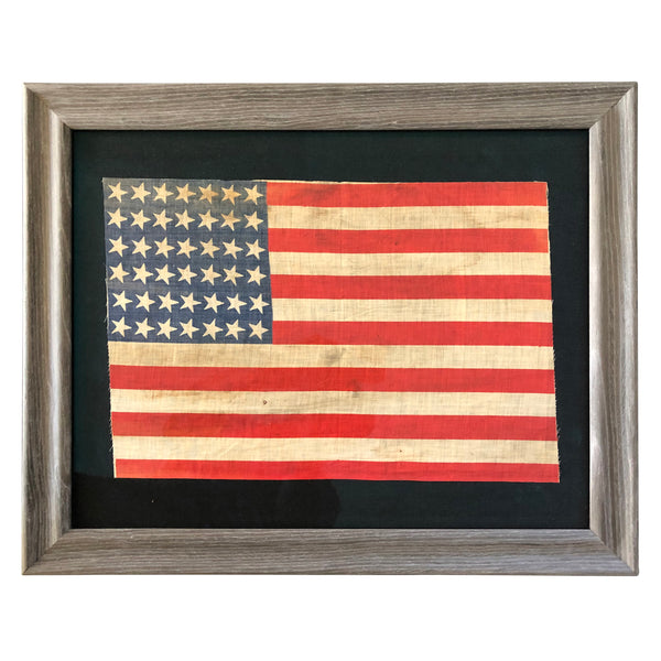 42 Star Flag, Antique Vintage Flag - Washington Statehood 1889-1890