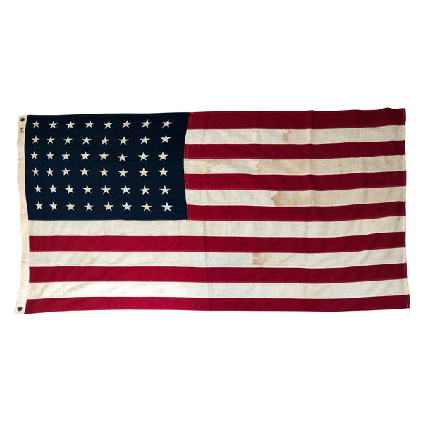 Vintage 48 Star American Flag with Sewn Stars and Stripes