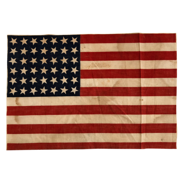 42 Star Flag, Scattered Star Position - Vintage American Flag