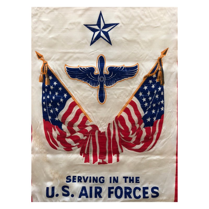 Original WWII Serving In The U.S Air Force Window Banner