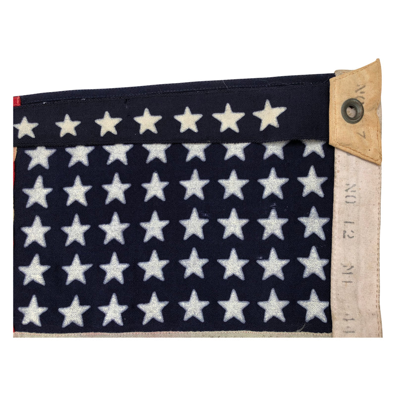 VINTAGE WWII NAVY SHIP COMMISSIONING PENNANT - 7 STAR FLAG, SIMILAR TO MARE ISLAND FLAG