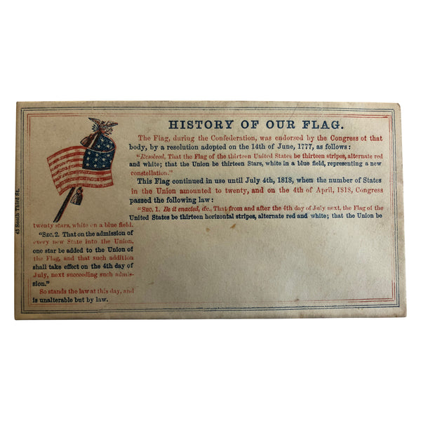 Patriotic Civil War Cover - History of Our Flag
