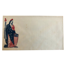 Patriotic Civil War Cover - Lady with American Flag and Shield