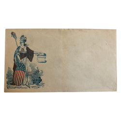 Patriotic Civil War Cover - Lady with American shield and constitution