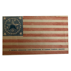 Patriotic Civil War Cover - 34 Star Flag Union Medallion Star Pattern