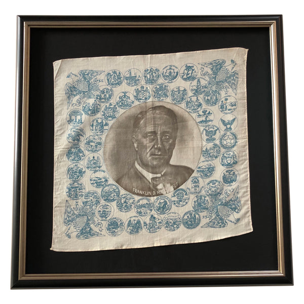 Vintage Handkerchief of Presidential Campaign of Franklin D Roosevelt