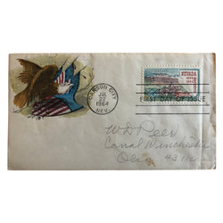 Patriotic Cover - Eagle with Flag Shields