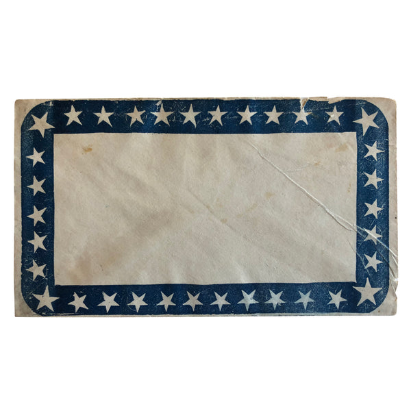 Patriotic Civil War Cover - Stars on Border of Envelope