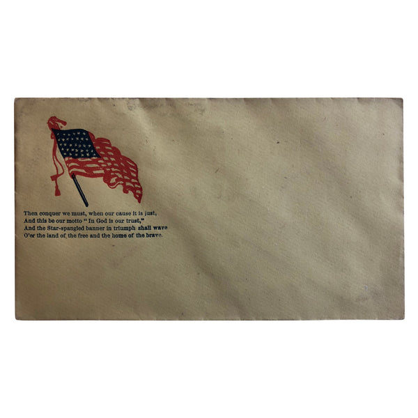Patriotic Civil War Cover - American Flag with Quote