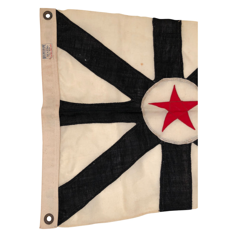 Vintage Naval with Red Star Flag - Made of Wool