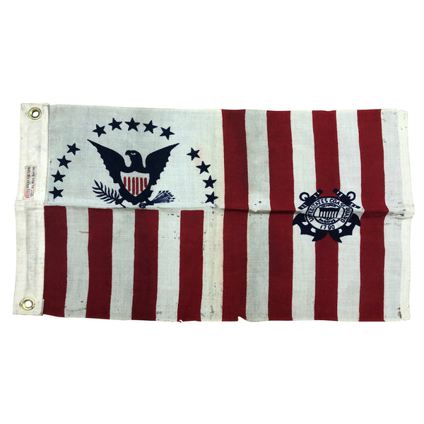 Vintage US Coast Guard Ensign Flag - No. 5 - All Wool Bunting 1915-1953