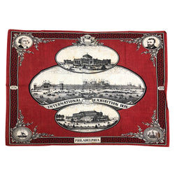 1876 World Fair Cloth Bandana Philadelphia Exposition Centennial
