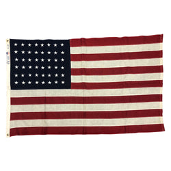 48 Star Flag - Vintage American Flag - Cotton Bunting