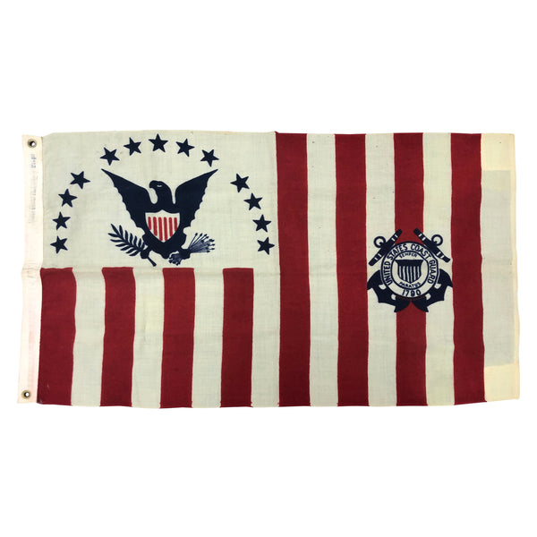 Vintage U.S. Coast Guard Ensgin Flag No. 4 1915-1953 Wool Material
