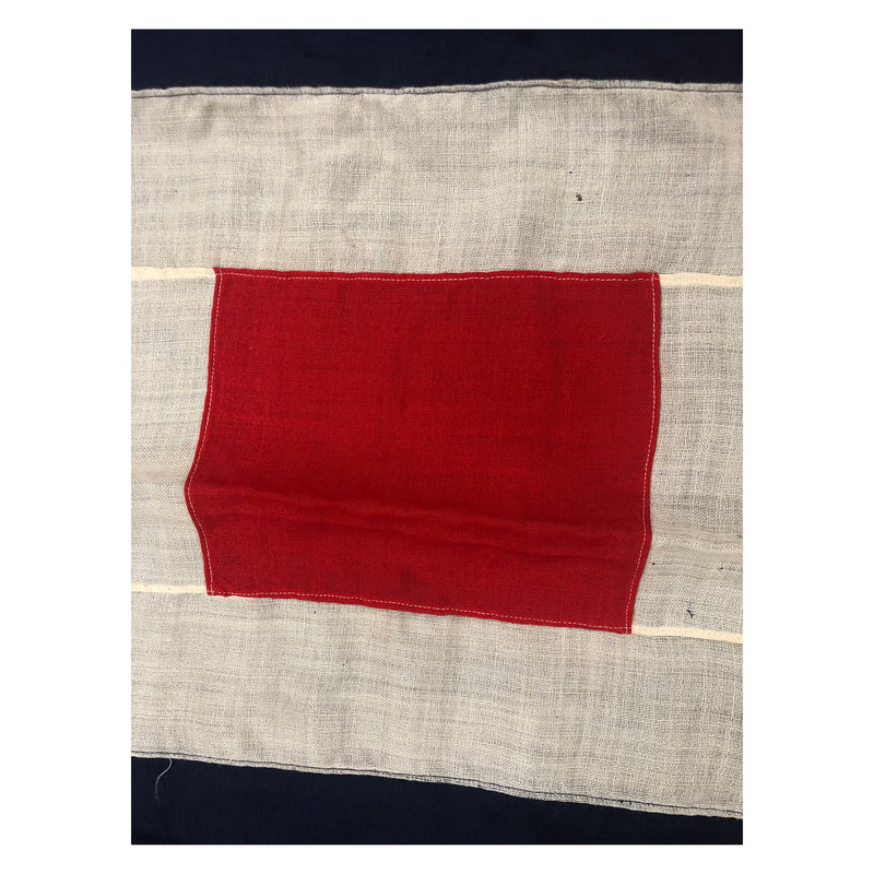 Vintage W International Code Signal Flag