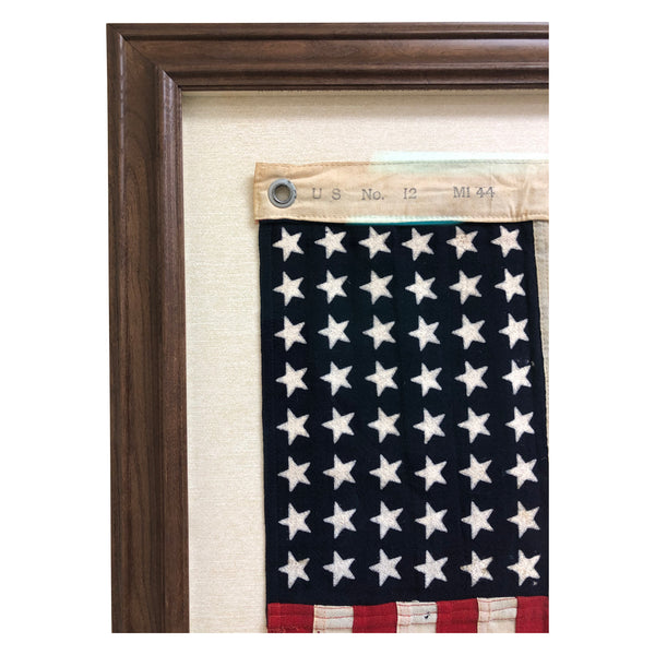 48 Star Flag, Vintage Ensign No. 12 US Mare Island WWII Flag - Rare Size