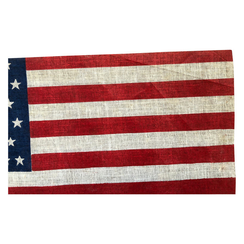48 Star Flag, Staggered Rows on an Antique American Flag