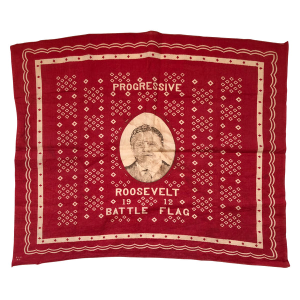 1912 Theodore Roosevelt Progressive Party Political Bandana / Battle Flag