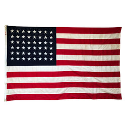 48 Star Flag. Vintage American Flag Cotton Bunting
