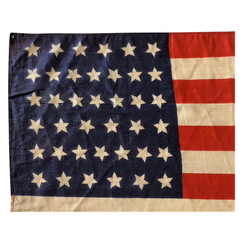 39 Star Flag -Vintage Antique American Flag