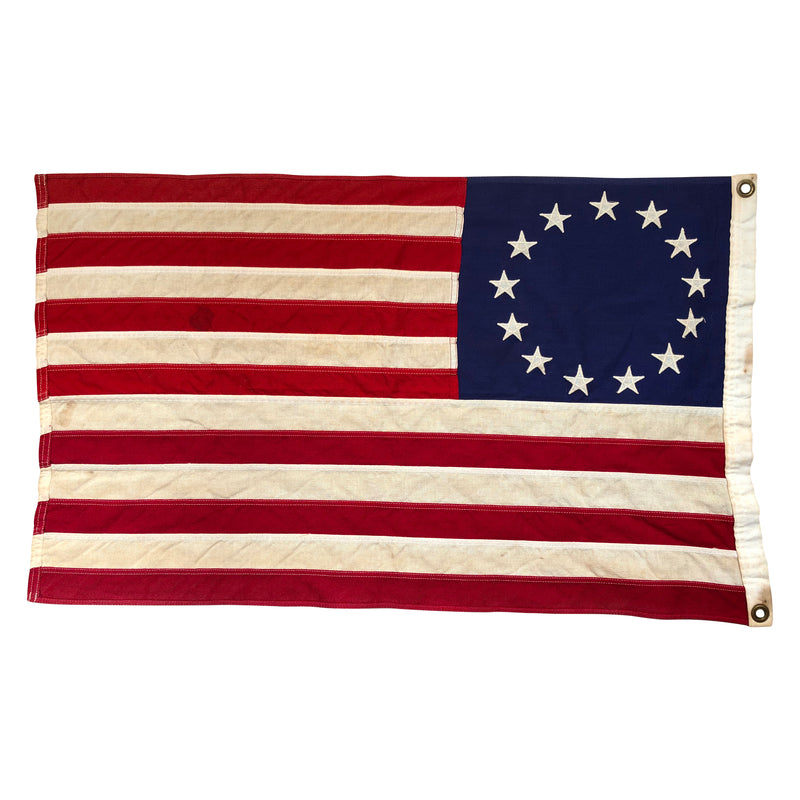 Vintage 13 Star Flag - Sewn Stars & Stripes