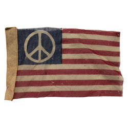 Vintage 60's Peace Sign American Protest Flag