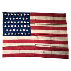 46 Star Flag, Silk Antique American Flag