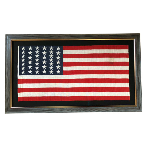 39 Star Flag - Antique Flag with Alternating Columns & Two Sizes of Stars