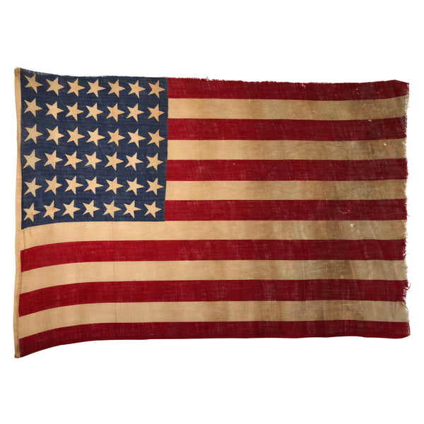 42 Star Flag, Antique Vintage American Flag, Washington 1889-1890
