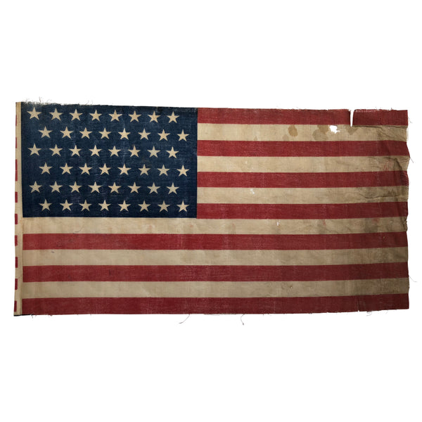48 Star Flag - Antique Vintage American Flag - WWI ERA - Staggered Star Formation