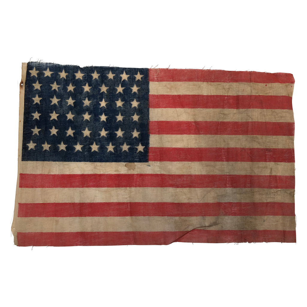 44 Star Flag Antique Vintage American Flag Hourglass