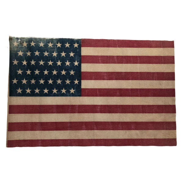 45 Star Flag - Antique Vintage American Flag - Utah Statehood