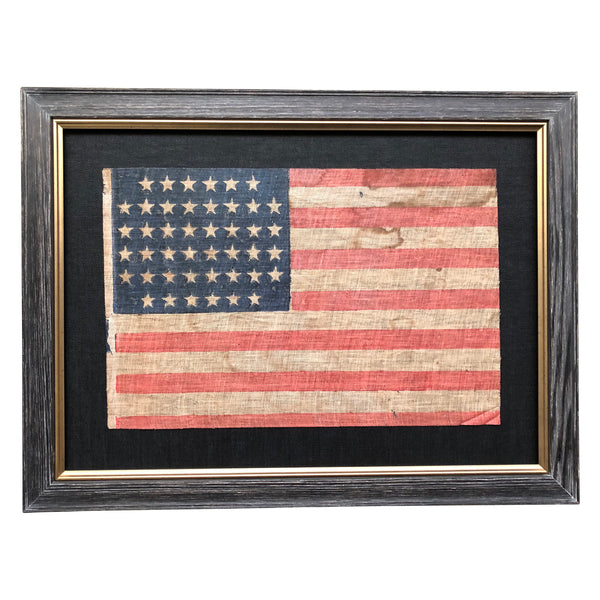 44 Star Flag - Antique Vintage Flag - Omitted Stars in all four Corners - Rare Pattern