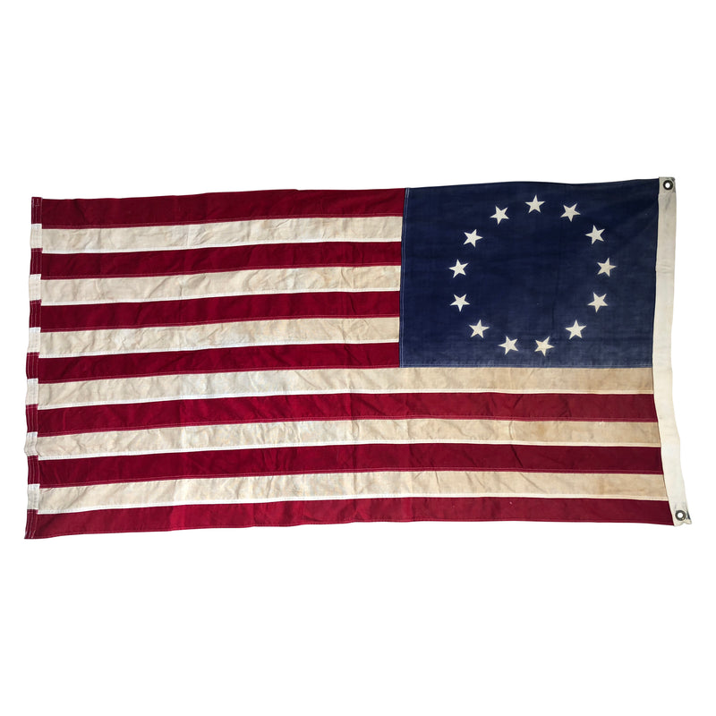 Vintage 13 Star Flag - Printed Stars & Sewn Stripes