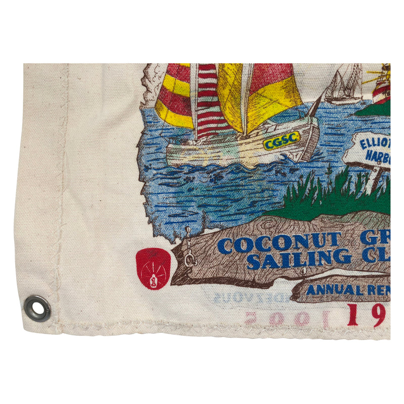 Vintage Coconut Grove Sailing Club 1995 Flag