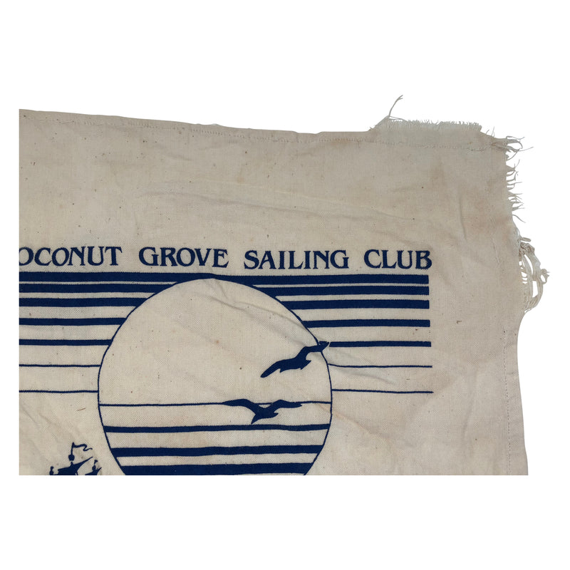 Vintage Coconut Grove Sailing Club 1986 Flag
